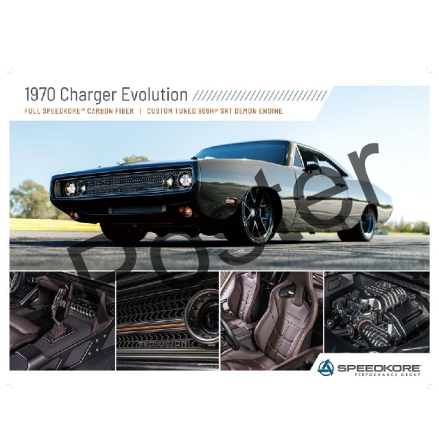 SpeedKore 1970 Charger Evolution Poster