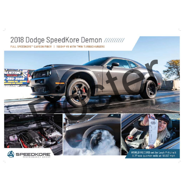 2018 Dodge SpeedKore Demon Poster