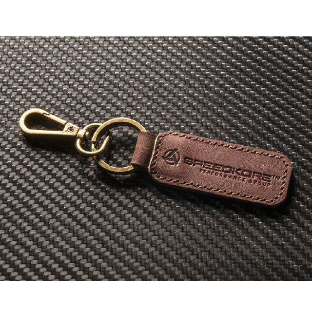 SpeedKore Leather Keychain